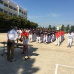 青木地区のソフトボール大会開会式にでました。