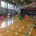 バンビ保育園、バンビ保育園朝日の運動会に来ています。