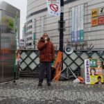川口駅頭東口にて新年初の駅頭を行いました。